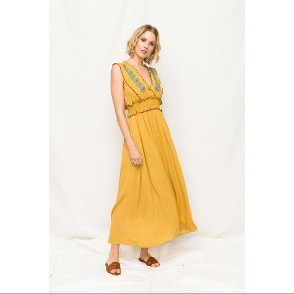 Mystree Dresses & Skirts - Natchez - Sleeveless Maxi with Front Smock Waist